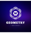 geometric flower style monogram logo on vector image