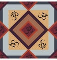Seamless abstract geometric pattern with Om signs vector image