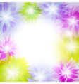 colorful floral background vector image
