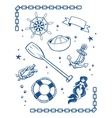 Sea and nautical symbols vector image vector image