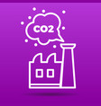 co2 emissions icon vector image