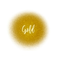 Golden spray dot particles Golden Airbrush vector image