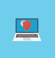 information security concept laptop with shield vector image