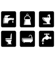 set of plumbing icons vector image