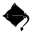 stingray icon black sign on vector image