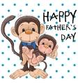 Two Monkeys vector image