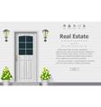 wooden door of house architecture background vector image