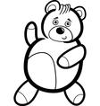 Cartoon Teddy Bear for Coloring vector image