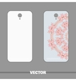 Phone Cover Pink Flowers vector image