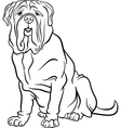 Neapolitan mastiff dog cartoon for coloring vector image