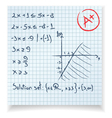 Math test and exam inequality vector image vector image