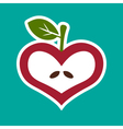 Apple Heart Icon vector image vector image