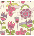 floral background pattern vector image vector image