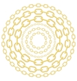 Gold circle chains vector image