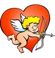 an Angel boy with a bow and arrow vector image vector image