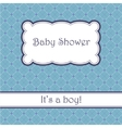 Background with cell pattern baby shower vector image