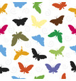 butterfly pattern seamless background vector image
