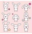 Cartoon Cute Rabbit Character vector image