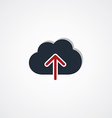 cloud upload sign theme vector image