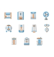 Flat design icons for home climatic system vector image