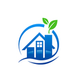 house water leaf ecology logo vector image