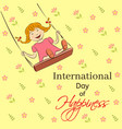 international day of happiness vector image