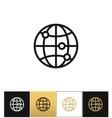 Internet globe earth world icon vector image