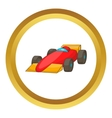 Race car icon vector image