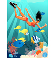 Snorkeling at the Reef vector image