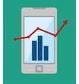 technology business growth statistics design icon vector image