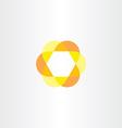 yellow orange hexagon logo vector image
