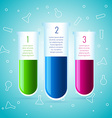 chemical lab experiment infographic design vector image