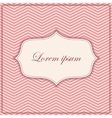 pink zigzag pattern background with banner and vector image