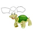Cartoon Thinking Turtle vector image vector image