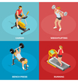 Gym Sport Isometric Concept vector image
