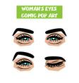 pop art cartoon comic smile wink woman eyes vector image vector image