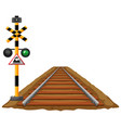 traffic lights for train and railroad vector image