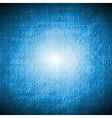 Bright blue hi-tech grunge background vector image vector image