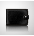 Classic black wallet leather textured vector image