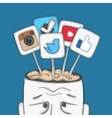 Social networks in human brain vector image