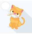 A cute cat vector