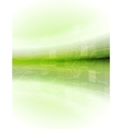 Abstract green motion technology background vector image vector image