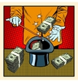 magic hat money vector image