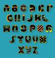 black alphabet superhero style vector image