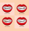 dentist service and teeth treatment vector image