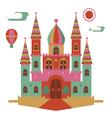 Fantasy castle vector image