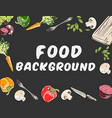 food background with different vegetables vector image