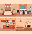 house interior living room domestic workplace vector image