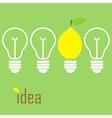 Idea lamp vector image