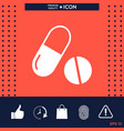 medicines pills - capsule and pill icon vector image